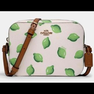 Authentic COACH MINI Camera bag with lime print